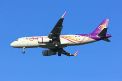 Airbus A320-200 of Thaismile Stock Image