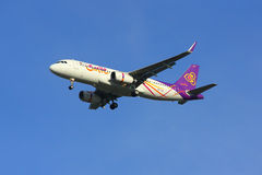 Airbus A320-200 of Thaismile Royalty Free Stock Images