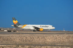 Airbus A320 from  Thomas cook Condor airlines Royalty Free Stock Images