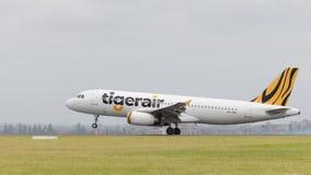 Airbus A320 Tiger Airways Australia Imagen de archivo libre de regalías