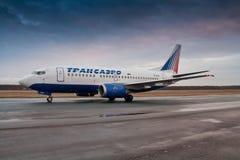 Airbus A319 Transaero στοκ εικόνα