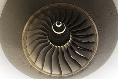 Airbus A380 turbine jet engine Royalty Free Stock Photo