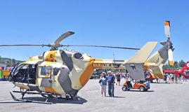 Airbus UH-72 Lakota Helicopter. Built by Airbus, the Lakota is a light utility helicopter whose primary use now is training. It is powered by twin jet engines royalty free stock image