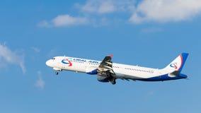 Airbus A321-211 Ural Airlines Fotografia Stock Libera da Diritti