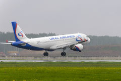 Airbus A320 Ural Airlines landing Stock Photography