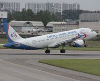 Airbus A319 Ural airlines Royalty Free Stock Photo
