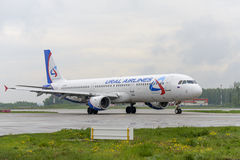 Airbus A321Ural Airlines taxiing Royalty Free Stock Photography