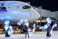 Airbus A350-900 9V-SMF Singapore Airlines Fotografia de Stock Royalty Free