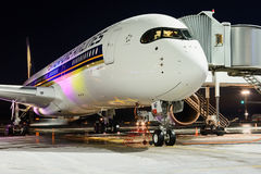 Airbus A350-900 9V-SMF Singapore Airlines Imagens de Stock