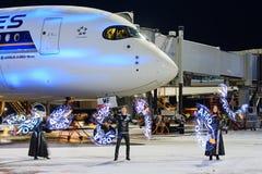 Airbus A350-900 9V-SMF Singapore Airlines Fotografia de Stock