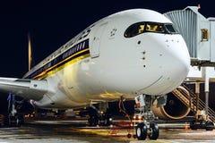 Airbus A350-900 9V-SMF Singapore Airlines Imagem de Stock