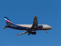 Airbus A320, V Vereshchagin Foto de Stock