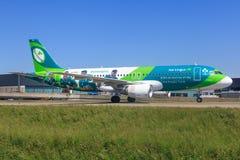Airbus A320 von Aer Lingus Stockfotos