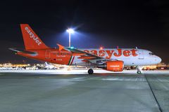 Airbus von Easyjet stockfotografie