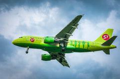 Airbus A319-114 VP-BTQ— S7 Airlines Imagens de Stock Royalty Free