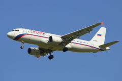 Airbus A320-214 (VP-BWH) airline Russia in flight Royalty Free Stock Photo