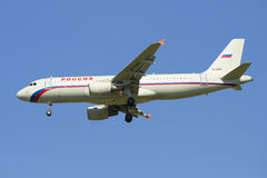 Airbus A320-214 (VP-BWH) airline Russia before landing in Pulkovo airport Royalty Free Stock Photography