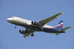 Airbus A320 VP-BWM, bevor Nahaufnahme gepflanzt wird Lizenzfreies Stockbild