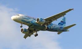 Airbus A319-111 (VQ-BAS) da linha aérea Fotografia de Stock Royalty Free