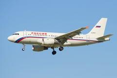Airbus A319 VQ-BAV da linha aérea Rússia um close up no perfil Imagem de Stock Royalty Free
