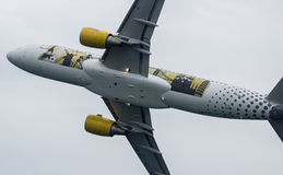 Airbus 320 Vueling Imagens de Stock Royalty Free