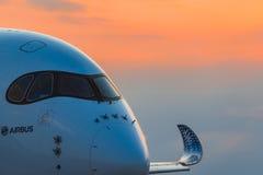 Airbus A350-900 XWB em MAKS Airshow 2015 Fotos de Stock