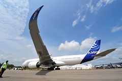 Airbus A350-900 XWB em Singapura Airshow Imagens de Stock