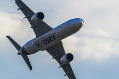 Airbus A350-900 XWB at MAKS 2015 Airshow Royalty Free Stock Photos