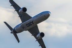 Airbus A350-900 XWB at MAKS 2015 Airshow. At Ramenskoe airport royalty free stock photos