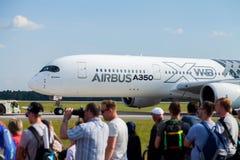 Airbus A 350 - 900 XWB plane Royalty Free Stock Photo