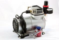 Airbush en kleine compressor royalty-vrije stock foto's