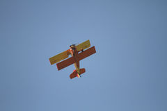 Aircarft d'annata con un temerario Fotografia Stock