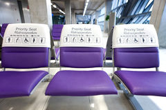 Airchairs. Wait hall in thai suvarnabhumi royalty free stock images