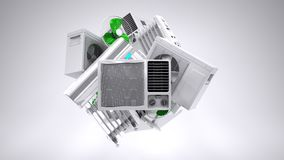 Aircon, heater, climate equipment Stock Photo