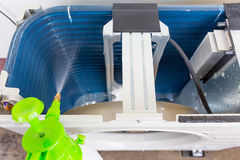 Airconditioner het schoonmaken Stock Foto