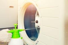 Airconditioner het schoonmaken Stock Afbeelding
