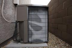 Airconditioner Openluchteenheid in de Winter royalty-vrije stock afbeelding