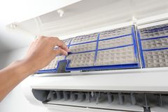 Airconditionerfilter stock afbeelding