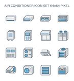 Airconditionerpictogram Stock Foto
