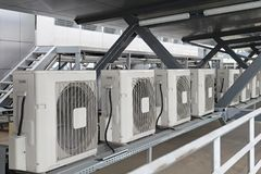 Airconditioners stock foto