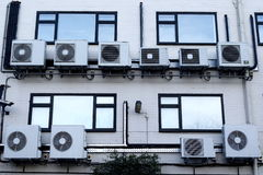 Airconditioners Royalty-vrije Stock Foto's