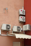Airconditioners stock afbeelding