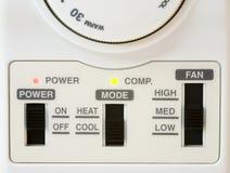 airconditionertermostat Arkivbild