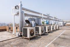 Airconditioningscompressor op het Dakterras royalty-vrije stock foto