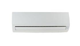 Airconditioningstoestel op wit Stock Foto