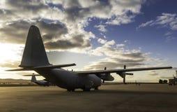 Aircraf de Hercules na terra Fotografia de Stock