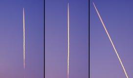 Aircraff-Höhengeschwindigkeit im Himmel Stockfotos