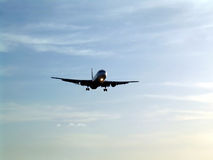 Aircraft. Preparing to land Stock Photo