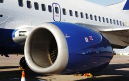 Aircraft. Close up in airport stock photography
