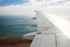 In aircraft Stock Photo